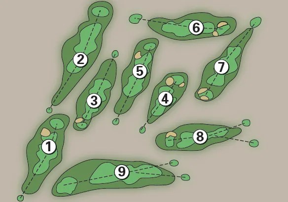 gan golf course map