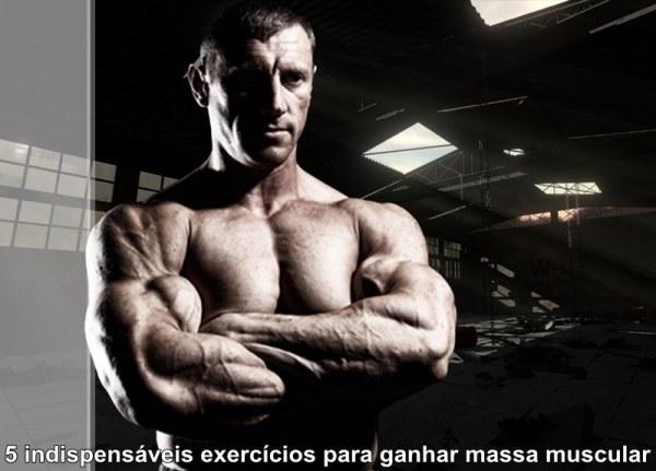 5-indispensáveis-exercícios-para-ganhar massa-muscular