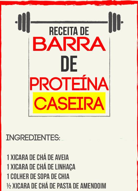 Infográfico barra de proteína caseira