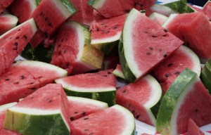 Watermelon Slice and Seeds
