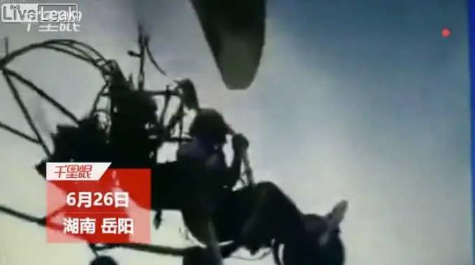 中国でおきたパラグライダーの死亡事故。