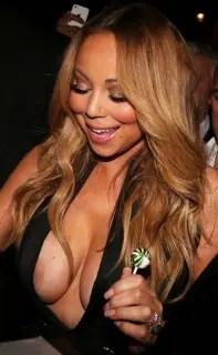 マライア・キャリー(Mariah Carey)の乳首が見えたと思ったらニップレスだったから残念。