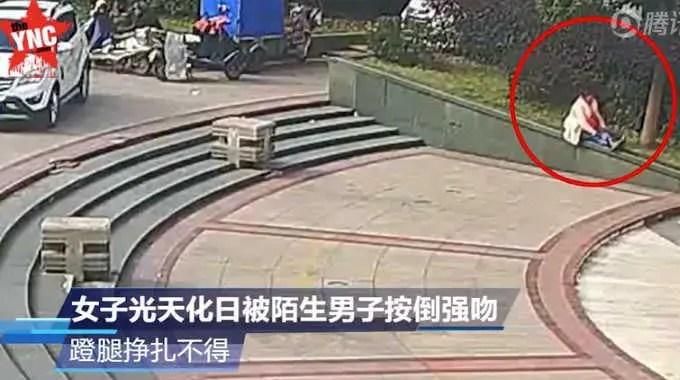 中国の公園で白昼堂々と性的暴行されてる映像が怖すぎない??
