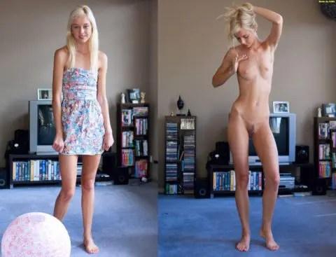 一般女性を脱がせて撮影する「着衣とヌード」の比較画像が最高にエロ過ぎる件について。