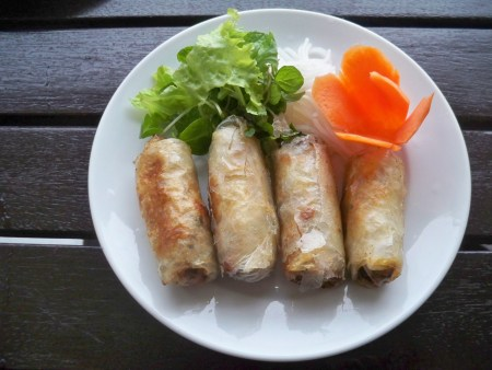 Mermaid spring rolls