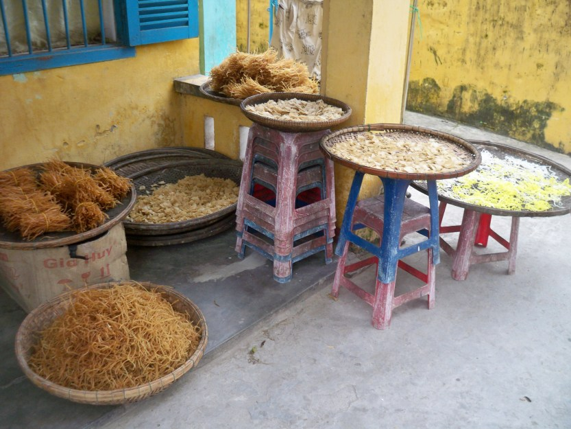 Noodles drying