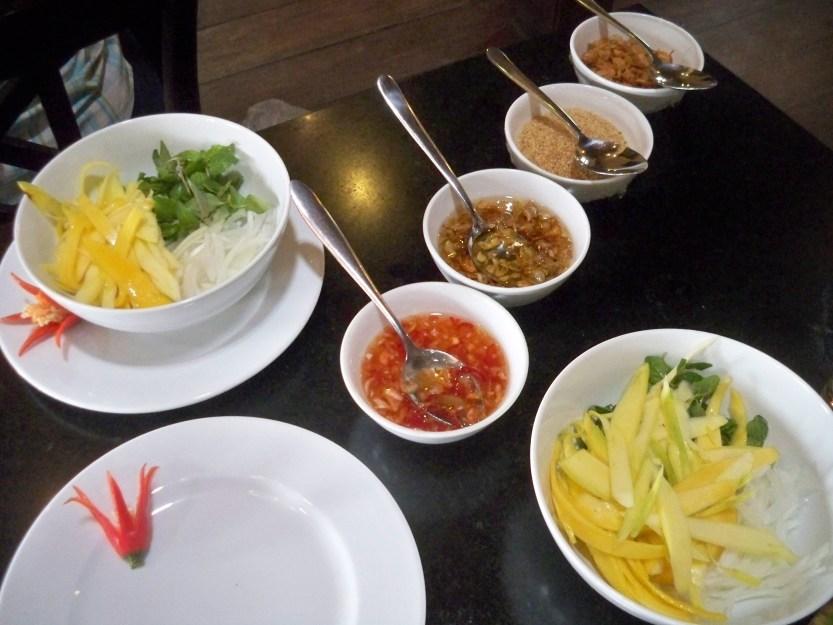 Papaya salad ingedients