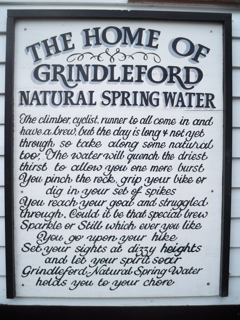 Grindleford spring water