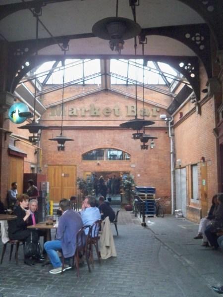 Market bar entrance
