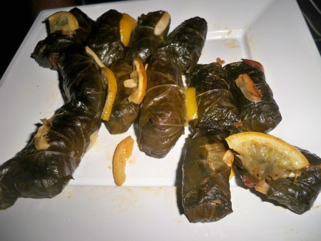 Stuffed Vine Leaves with Roasted Lemon & Garlic