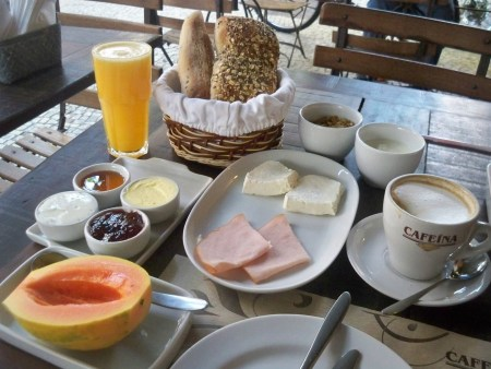 Breakfast at Cafeina
