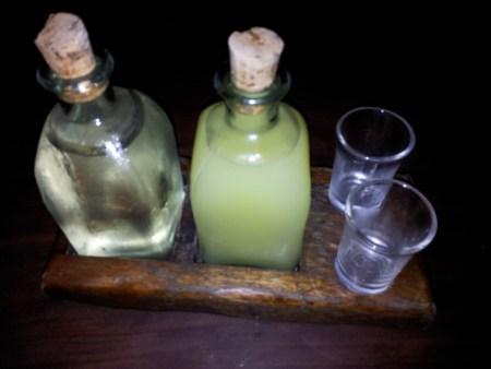 Grappa y Lemoncello