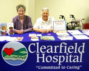 Clearfield Hospital recently held a Health Fair for our community.  Pictured, from left to right, are RSVP volunteers Donna Shaw and Delores Fye. (Provided photo)