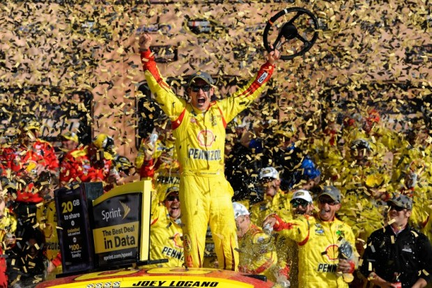 The first contender that won't be eliminated in this round of the Chase is Joey Logano.