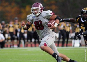 Beau Swales had the game winning touchdown on Saturday (Photo courtesy LHU Athletics)