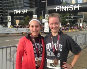 Penn State DuBois runners Juliann Boddorf, left, and Carley Boice. (Provided photo)