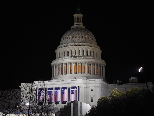 U.S. Capitol building at night (Photo by Wendy Brion)