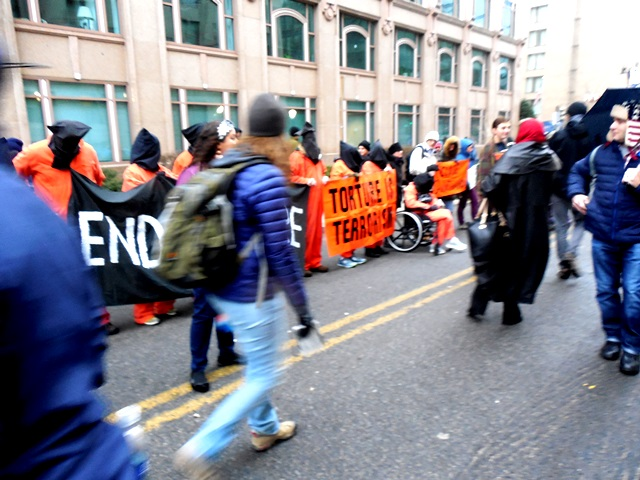 Guantanamo protest (Photo by Wendy Brion)