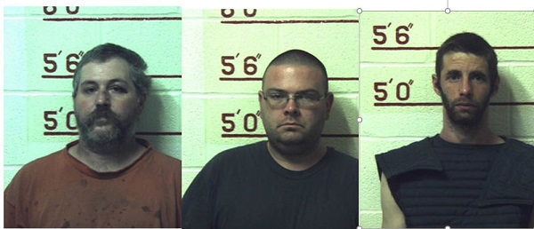 Pictured are Terry J. Wallace, 41, Matthew J. Brubaker, 32, and Marc T. Measnikoff, 34, all of Munson.