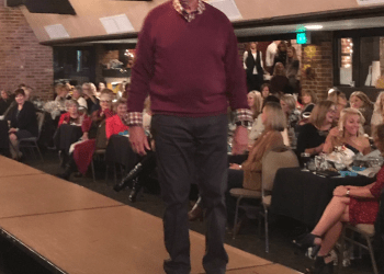 Free Clinic founding and board member Raymond Graeca models apparel from Guzzo's & Co. at the 2017 fashion show benefiting the Free Medical Clinic of DuBois. (Provided photo)