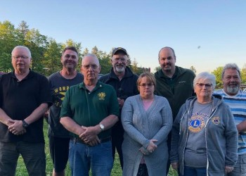 Pictured, in front, are Second Vice President John Bunnell and Director Jim Bennett, two years; Vice President Stephanie Johnson; and Secretary Phyllis Turns. In the back are Lions Tamer Tucker Bell; Treasurer Kirk Thorp; President Scott Bennett; and Tail Twister Dave Turns. Missing from the picture are Third Vice President Gary Verrelli and Directors Linda Henry and Dan Dimmick, both one year. (Provided photo)