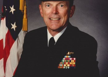 Former Penn State DuBois CEO Joseph Strasser is pictured during his time as president of the Naval War College.  Photo is provided by the family of Joseph Strasser and Blake-Doyle Funeral Home.