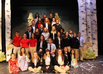 Pictured, from left to right in the bottom row, are: Isabell Noemi, Sarah Kelsey, Beth Williams, Paris Farley, Abigail Shepler, Remington Osselborn and Danielle Perry. In the second row are: Jeremiah Mondi, Elliana Gow, Addison Smith, Michaela Armanini, Jonathan Kurtz, Katelyn Smith, JoAnne Case, Westin Youngdahl and Caleb Bruno. In the third row are Dylan Foster, Madison Gill, Alex Ochs, Juliana Stine, Cece Blasdell and Josh Slifko. In the fourth row are: Katie Jordan, Becca Huegler and Erich Lee. In the fifth row are: Olivia Helm, Sophia Ginther and Lindsey Reiter. In the top row are: Alyssa Noemi, Megan Ochs and Rose Whipple. Missing from photo are: Anna Vandervort, Jack Stringer, Sean Stringer and Maggie Stringer.  (Provided photo)