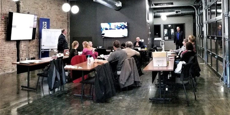 A TechCelerator workshop in session at the North Central PA LaunchBox.  (Provided photo)