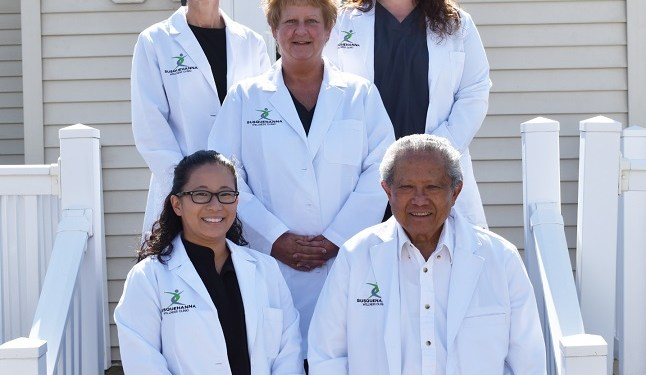 Susquehanna Wellness Clinic team members, (front from left to right) Jamie Bush, CRNP, Dr. Baltazar Corcino, M.D., (middle) Linda Young, LPN and (back) Megan Patrick, RN, RD, LDN, Practice Manager and Laura Nearhood, RN. (Provided photo)