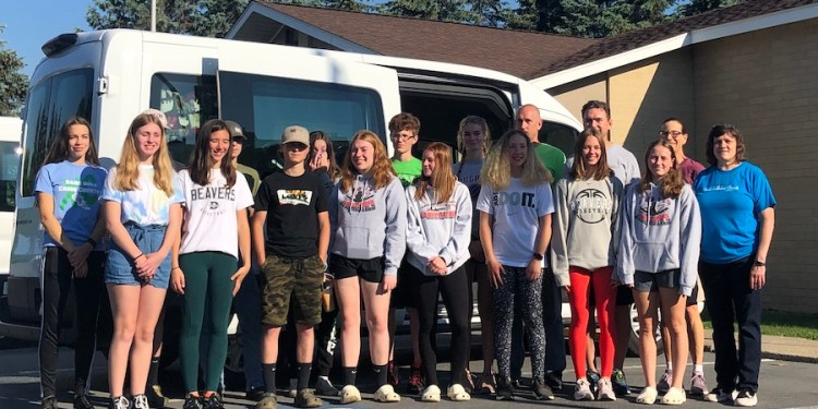 In front, from left, are:  Addy Witherite, Avery Fontaine, Devon London, Ella Wilson, Amber Eberly, Alexas Pfeufer, Kamryn Fontaine, Madee Finalle and Debbie Finalle. In the back are:  Lauren Hoover, Carter Wilson, Derek London, Madison Rusnica, Cole Phillips, Gabby Horner, Ted Horner, Steve Fontaine and Amy Godshall-Miller. (Provided photo)