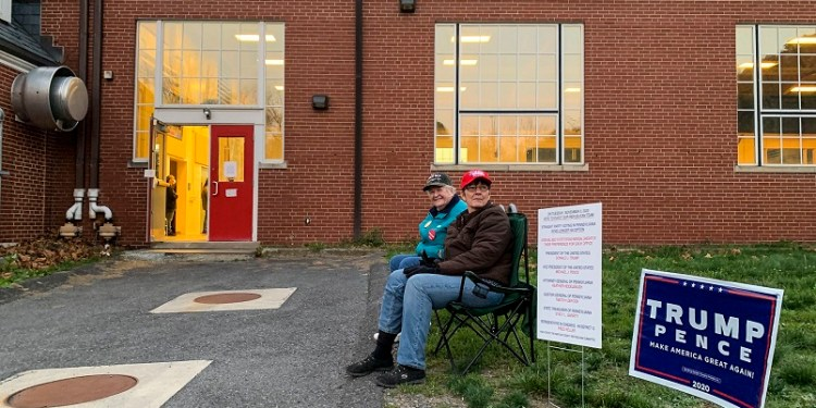 Supporters of ex-President Donald Trump have pushed for an audit of Pennsylvania's election results as they advance false claims of widespread voter fraud.  Sue Dorfman / For Votebeat