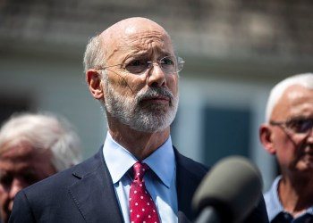 Gov. Tom Wolf supports more funding to help improve eldercare services in Pennsylvania ahead of a looming dementia care crisis, but the GOP-controlled state legislature would need to agree.  TYGER WILLIAMS / Philadelphia Inquirer