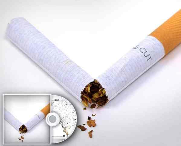Zeigt eine zerbrochene Zigarette
