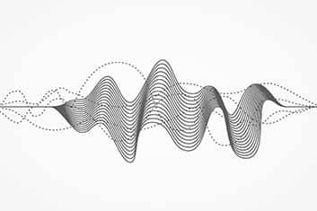 zeigt eine Audio Welle