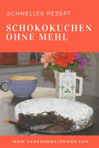 Dieser Schokokuchen wird ohne Mehl gebacken und ist ein saftiger, schokoladiger Kuchen mit echter Schokolade. Ganz schnell zu backen!