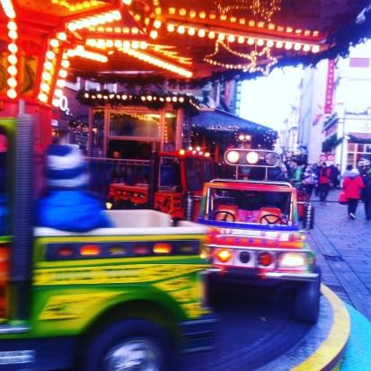 Lübecker Weihnachtsmarkt, Karussellfahren, Weihnachtsmarkt, Familienurlaub
