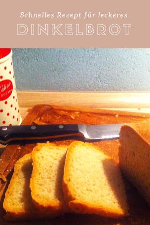 Einfaches Rezept für Dinkelbrot mit Hefeteig, so kann man Brot ganz einfach selbst backen.