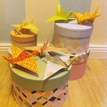 Origami, Kranich falten, Frühlingsdeko, Basteln