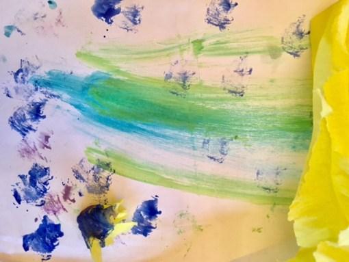 Malen mit Krepppapier: Kreative Ideen für das Tuschen mit Wasserfarbe
