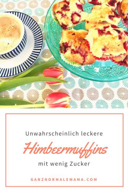 Einfaches und schnelles Rezept für Himbeermuffins mit wenig Zucker. Diese Muffins sind schnell gebacken und schmecken auch Kindern.