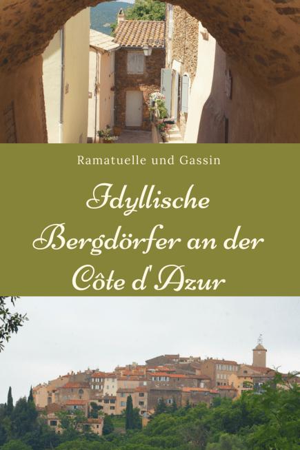 Das Hinterland der côte d'azur ist einen Umweg wert: Reise nach Ramatuelle und Gassin, zwei Bergdörfer in der Nähe von St. Tropez, typisch Provence.