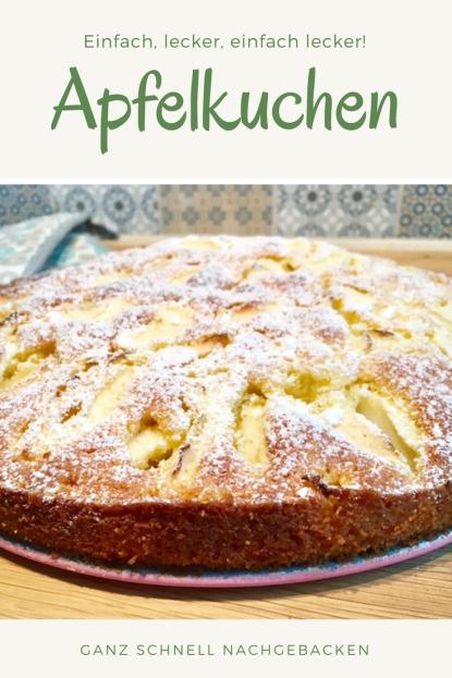 Kinderleichtes Rezept für versunkenen Apfelkuchen: Ganz leicht zu backen, supersaftig und lecker. #apfelkuchen #kuchen #backen