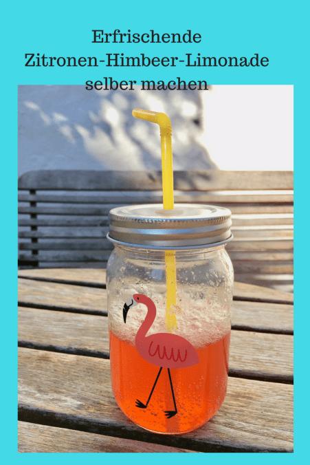 Schnelles Rezept für leichte Zitronen-Himbeer-Limonade. Erfrischen im Sommer, selbstgemachte Limo, Zitronenlimonade mit Himbeeren #grillen #limonade #rezept