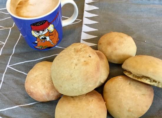 REzept für süße Brötchen mit Joghurt deren Teig über Nacht geht