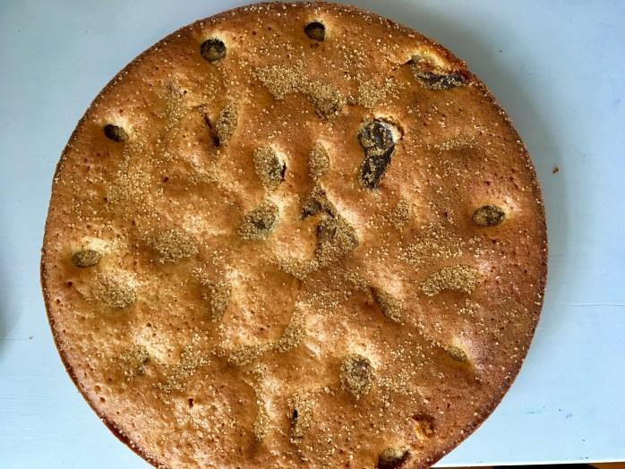 Schwedischer Pflaumenkuchen mlt gemahlenen Mandeln