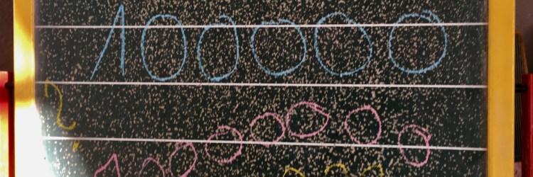 Große Zahlen mit Kindern entdecken