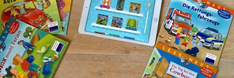 Die kleine Vorleser App vom Carlsen Verlag zum lesen der Maxi Puck bücher