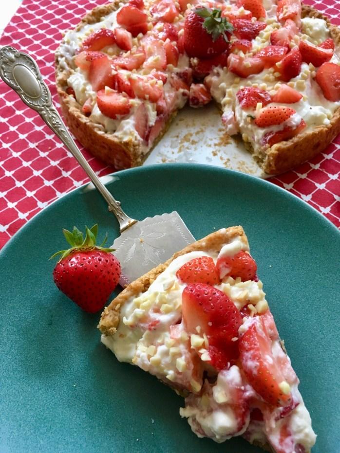 Rezept für erdbeerkuchen aus Schweden a eine tarte mit Erdbeeren und mascarpne