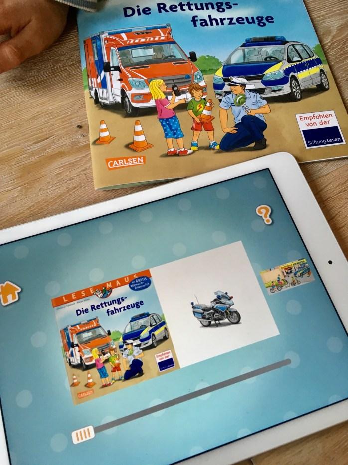 Erfahrungsbericht mit der App der kleine Vorleser vom Carlsen Verlag App für Kinder im Test