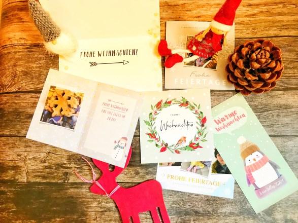 Postkarten weihnachtskarten und Einladungen mit kaartje gestalten